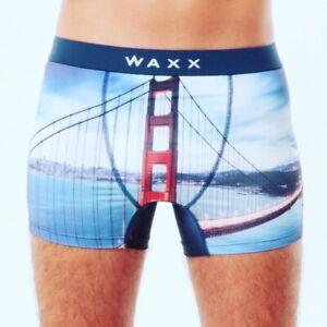 Waxx-Mens-Bridge-Microfibre-Supportive-Trunk-Boxer-Shorts-Size-S-28-30-RRP-20