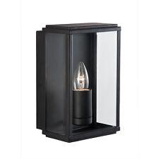 SEARCHLIGHT BLACK RECTANGLE MODERN OUTDOOR EXTERIOR WALL FITTING BRACKET LIGHT