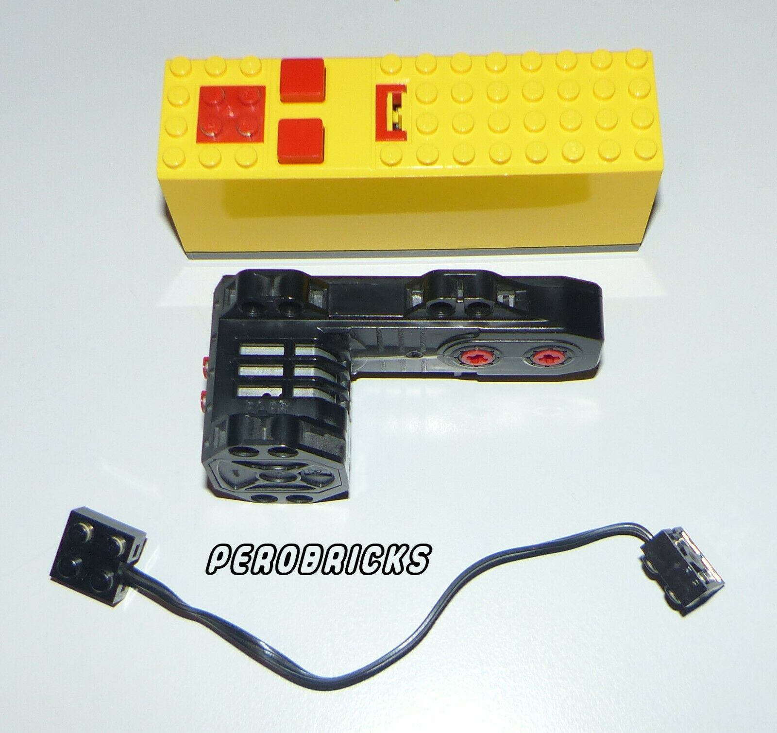 Lego Technic Technik 1 x Power Functions Motor 9V  5292 + Batteriekasten + Kabel