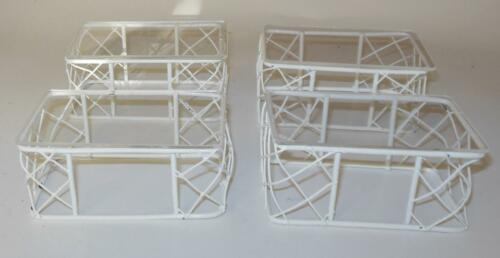 4 IRON WIRE COFFEE TABLES PLEXIGLASS TOPS DOLLHOUSE FURNITURE MINIATURES
