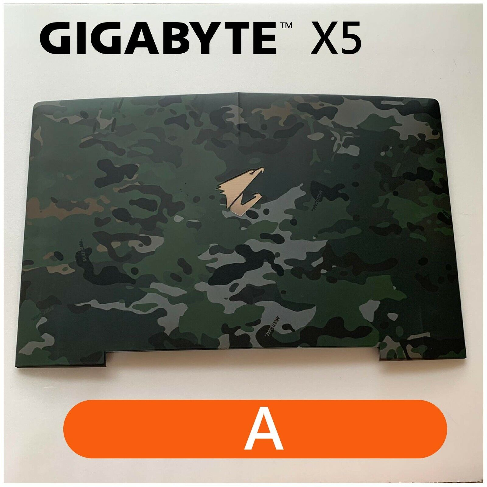 【2p3c】Replacement for GIGABYTE X5 Laptop LCD Cover : A(Rear Top Lid Back Cover)