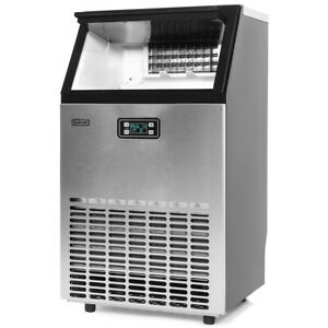99lbs-hr-Freestanding-Ice-Maker-Commercial-Built-in-Ice-Cube-Stainless-Steel