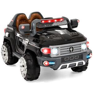 BCP-12V-Kids-Truck-SUV-Ride-On-Car-w-2-Speeds-Lights-AUX-Black