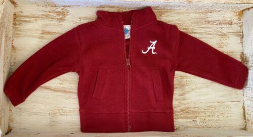 Details about  /University of Alabama Crimson Polar Fleece Zipper Jacket with White A Logo