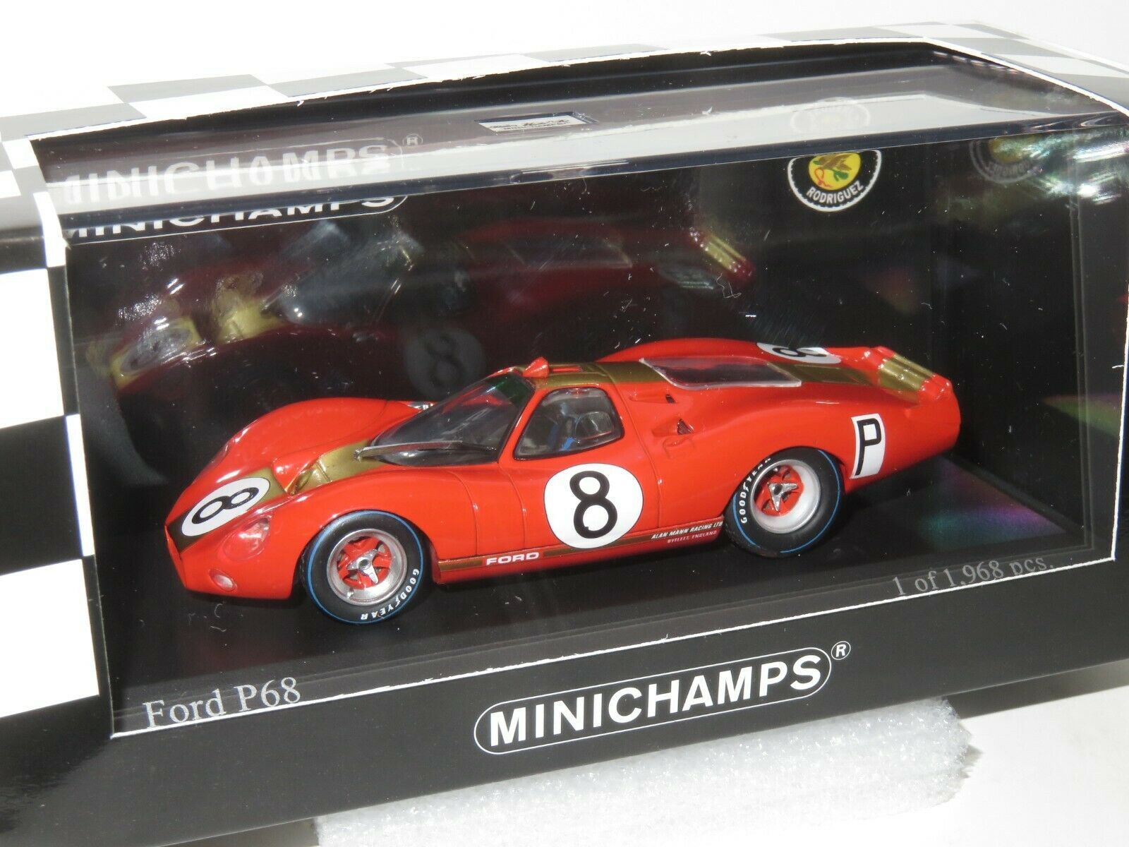 FORD P68 P68 P68 Alan Mann Racing nurburgring 1000km 1968  8 Irwin Rodriguez e425ae