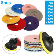 8pcs Diamond Polishing Pads 4in Wetdry For Granite Concrete Marble Grinding