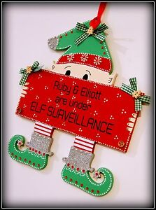 Questa-CASA-e-sotto-sorveglianza-Elfo-segno-famiglia-o-Nome-per-Bambini-Natale