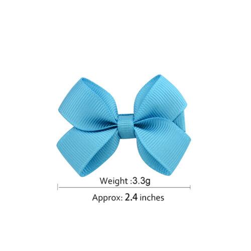 20PCS Baby Big Hair Bows Boutique Girls Alligator Clip Grosgrain Ribbon Cute STU