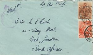 South-Africa-1942-Censored-Airmail-to-East-London-PH-J6090