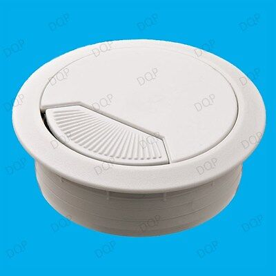 Langdy 4X 60mm Bureau Table Grommet câble Disponible Surface de caches pour
