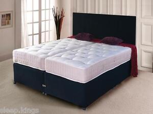 Letto Zip Bedden : Zip and link bed divan bed ortho mattress and headboard storage