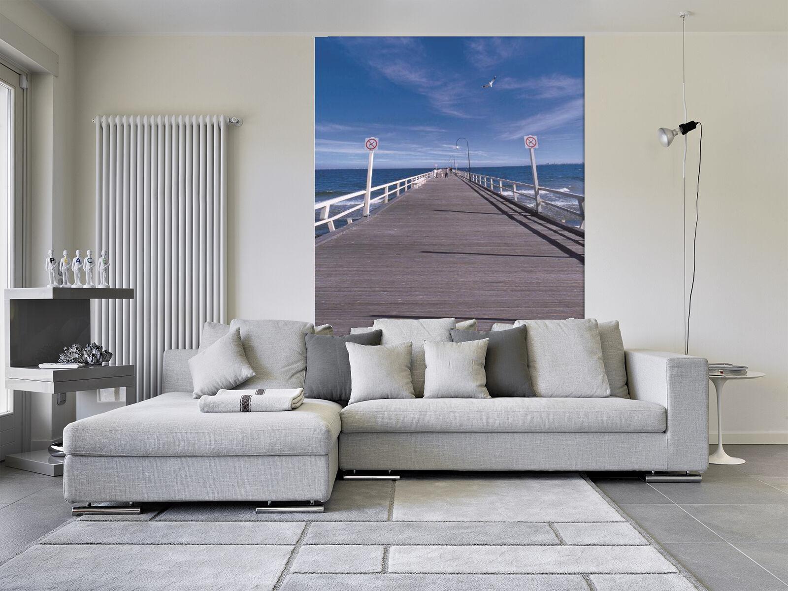 3D Sea Beach Corridor 01 Paper Wall Print Wall Decal Wall Deco Indoor Murals