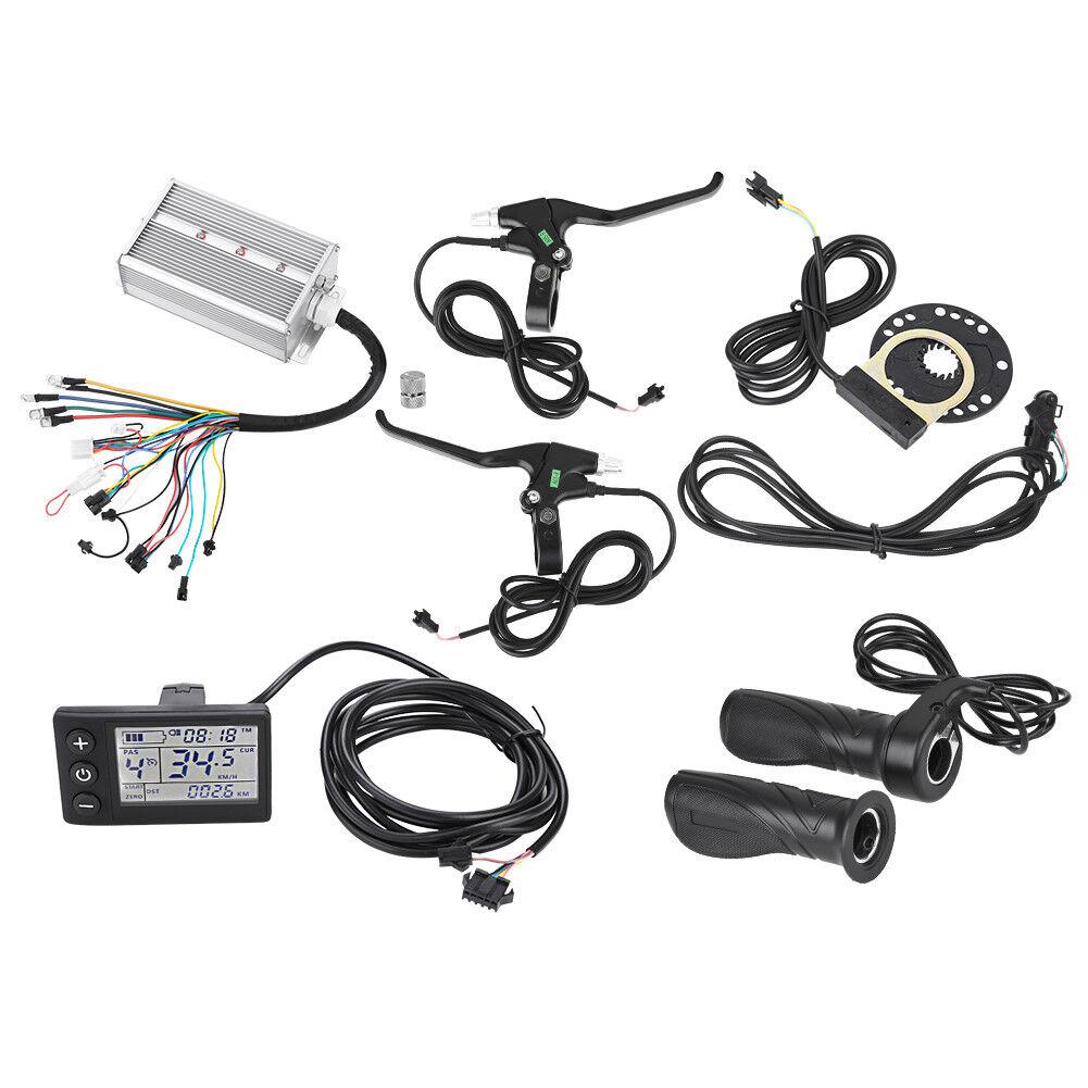 1500W Bürstenloser Controller+Gasgriff+LCD Panel Kit für Elektro-Bike Scooter     Helle Farben