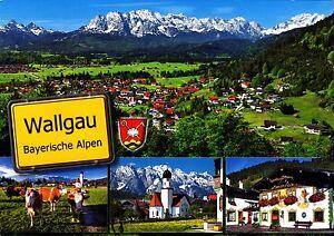 Wallgau-Bayer-Alpen-Ansichtskarte-2013-gelaufen
