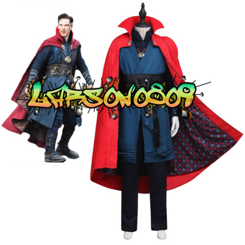 Dr.Strange Stephen Cosplay Costume Full Set Outfit with Necklace Custom Made