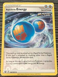 Pokemon : SWSH BATTLE STYLES RAPID STRIKE ENERGY 140/163 UNCOMMON REVERSE