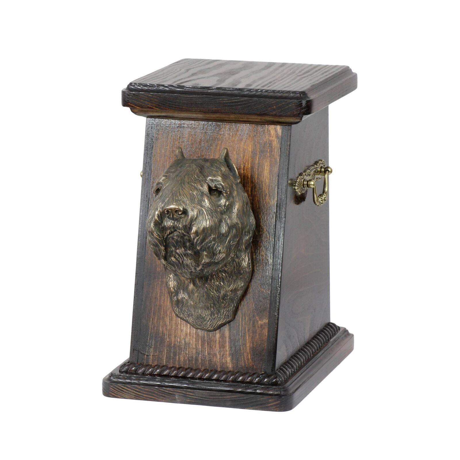 Bovaro delle Fiandre - urna di legno con l'immagine di un cane Art Dog IT Tipo 3