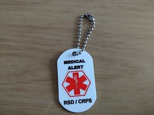 Medical-Alert-Keyring-for-RSD-CRPS-Complex-Regional-Pain-Syndrome-PERSONALISED