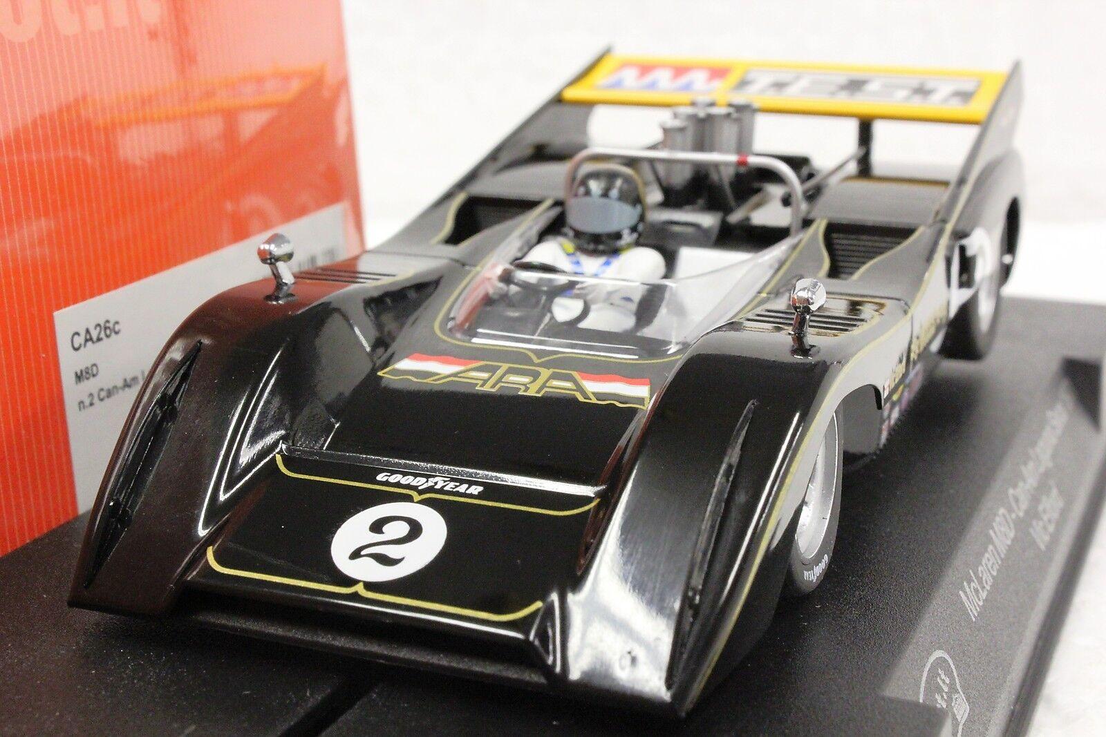 Slot it sica 26 C McLaren M8D CAN AM Laguna Seca 71' Vic Elford Nouveau 1 32 Slot Car
