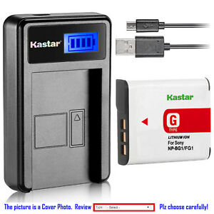 Kastar-Battery-LCD-Charger-for-Sony-NP-BG1-NPBG1-Sony-Cyber-shot-DSC-W100-Camera
