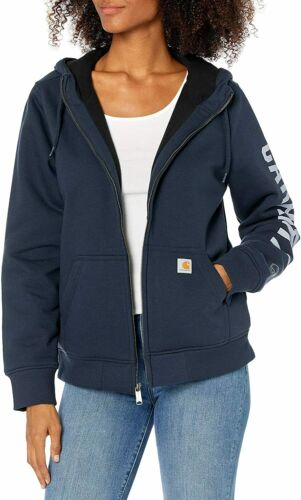 Carhartt Women/'s Rain Defender Original Fit Lined Graphic Sweatshirt