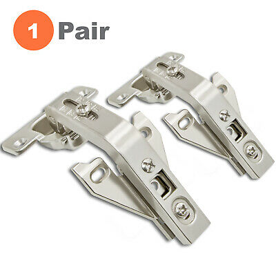 Screws are Included 110 Degree Stainless Steel Door Hinges with Hinge Cover Plates 6pcs European Inset Soft Close Cabinet Hinge