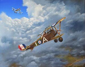 Original-Aviation-Oil-Painting-Neiuport-16-by-David-Stiling