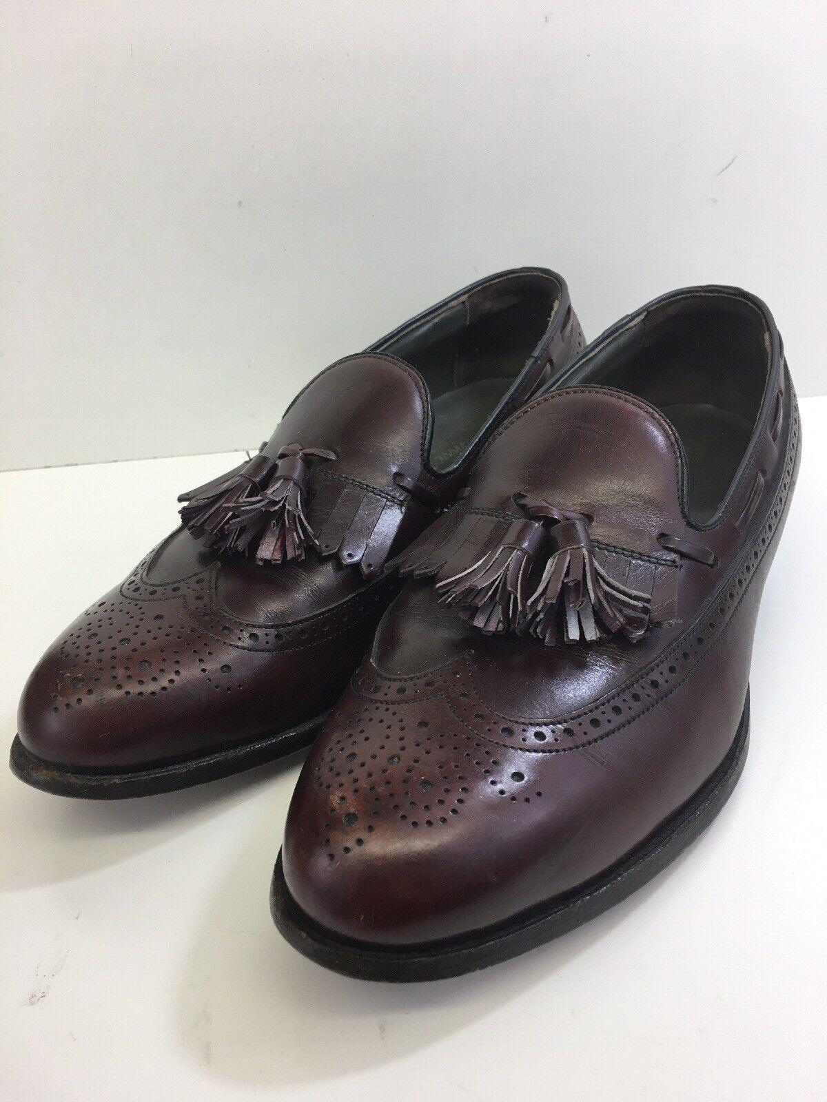 Footjoy  Loafers  Tassel Burgundy Dress shoes Brogue Leather Men's Size 8.5 D