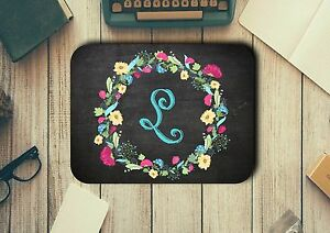 Personalised Initial Mouse Pad Easy Glide Non Slip Tough Neoprene