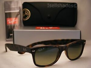 70016079d43 Ray Ban NEW WAYFARER (RB2132-894 76 52) Matte Havana with Blue Green ...