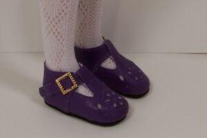 3e7b01bd5e6a2 Details about PURPLE T-Strap Doll Shoes Fit Hopscotch Hill Coll. MORE  Colors Availables DEBs