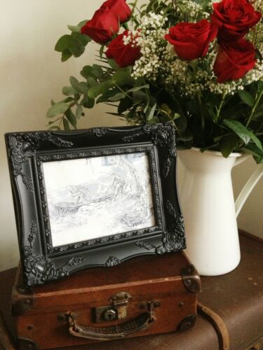"""ORNATE PICTURE FRAME ANTIQUE BLACK IVORY GOLD SILVER OR WHITE 8/"""" x 10/"""" or 6/""""x8/"""""""