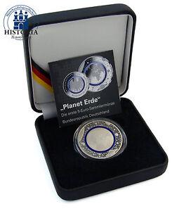 Deutschland-5-Euro-Blauer-Planet-Erde-2016-Sammlermuenze-Mzz-unserer-Wahl-im-Etui
