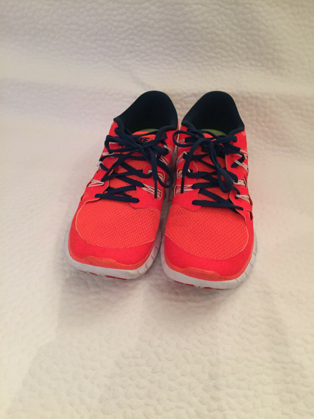 Nike Free rn Distance 2 runners ,orange and Navy, Mens 9.5