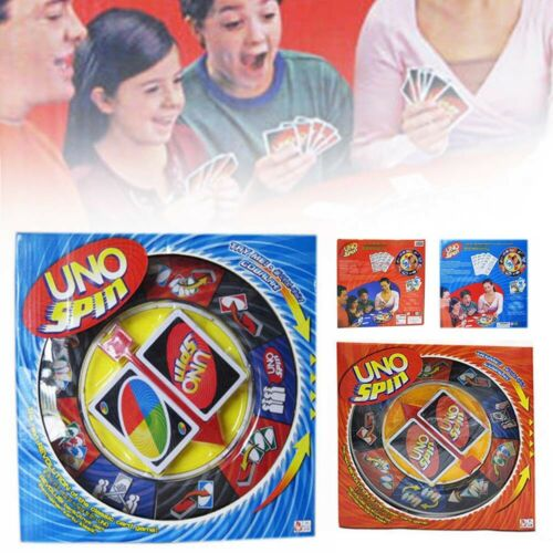Family Friends Interactive Fun Uno Spin Card Travel Board Game Playing Card