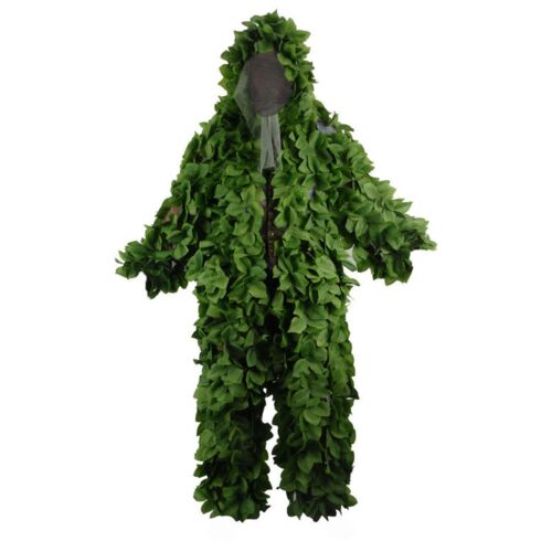 Jungle Camo Ghillie Suits Camouflage Hunting Clothing Sniper Tactical Military