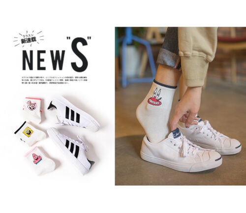 Fashion Cartoon Character Cute Short Socks Women Harajuku Cute Patterend Ankle S