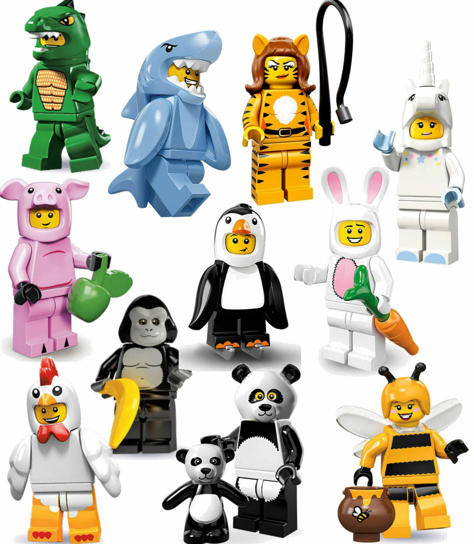 Lego animales Kit minimum gorila lagarto conejo abeja oso panda cerdo