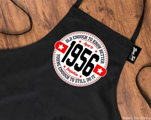 65th Birthday Gifts for Men Him Dad Husband BBQ Cooking Apron Young Enough 1956