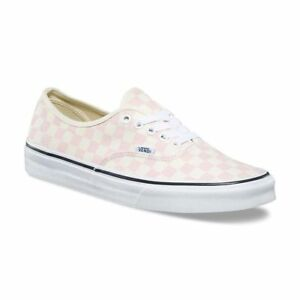 428902d4c2 VANS Pink Checkerboard Shoes Chalk Light Pink Ivory Authentic Womens ...