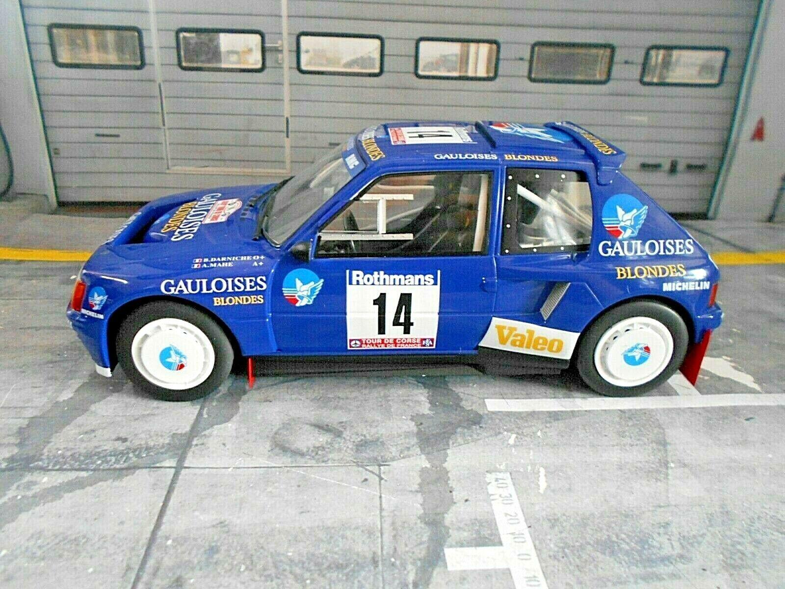 Peugeot 205 T16 Rallye Taille  B Tour de Corse 1985  14 Darniche Gauloises IXO 1 18  bon prix