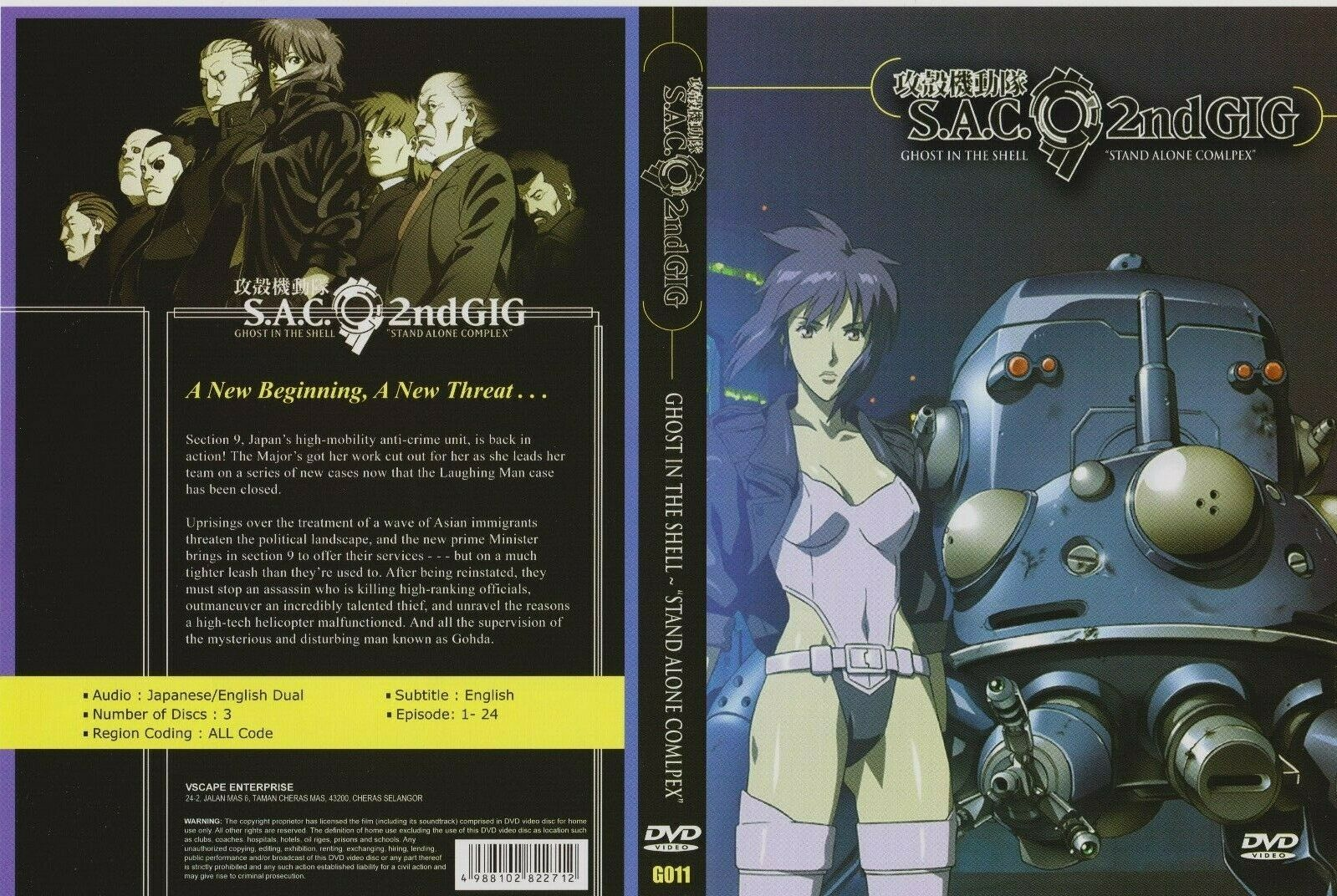Motoko Wire Wall Scroll Ghost In The Shell Sac 2nd Gig Anime Fabric Poster For Sale Online Ebay