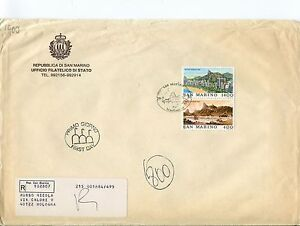 1983 Fdc San Marino Brasiliana '83 Filatelia Rio Raccomandata First Day Cover Les Clients D'Abord