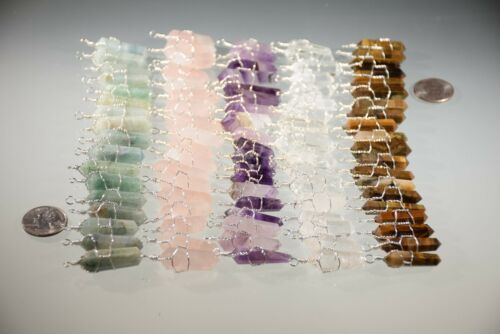SemiPrecious Wire Wrapped Crystal Pendants U-Pick Wholesale Lot of 10 Handmade