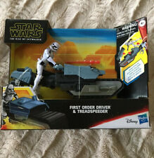 "NIB Hasbro Star Wars Galaxy of Adventures 6/"" First Order Driver /& Treadspeeder"