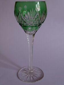 1 Ancien Verre A Vin Du Rhin Roemer Cristal Vert Ht 20 Cm Pratique Pour Cuire