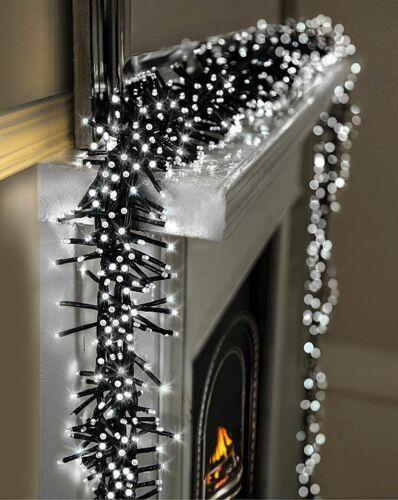 360 DEL Blanc Lumineux Cluster Chaîne Lumières Arbre De Noël Multi Action Fairy
