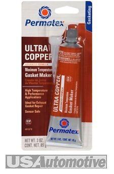 Permatex RTV Silicone Ultra Copper Gasket Maker Sensor Safe 81878