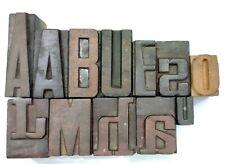 Letterpress Letter Wood Type Printers Block Lot Of 12 Typography Eb 59