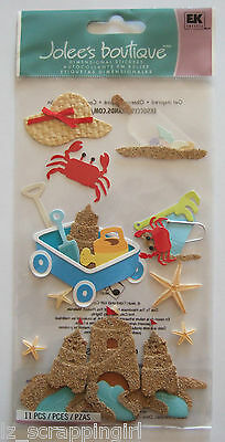 SAND THEME Jolee's Boutique Dimensional Stickers ocean beach vacation sandcastle